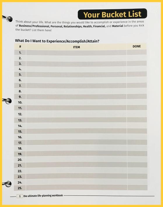 01-Bucket List